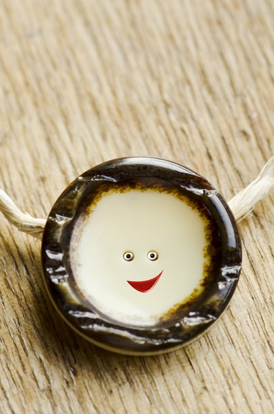 Smiley face: smiley made out of a button