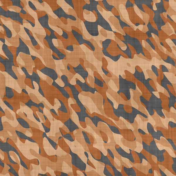 Camouflage 1: Camouflage patterned cloth in desert colours.