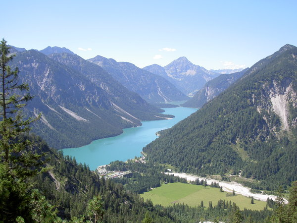 Plansee Austria: View over Plansee Austria