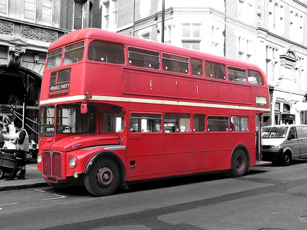 London city bus: A classic double-decker.