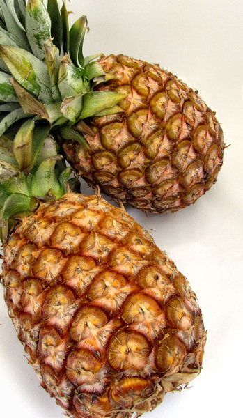 fresh pineapple1: fresh raw edible pineaplle fruit