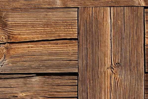 Wooden Texture: Texture fragment of ancient plain wooden door