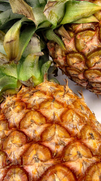 fresh pineapple2: fresh raw edible pineaplle fruit