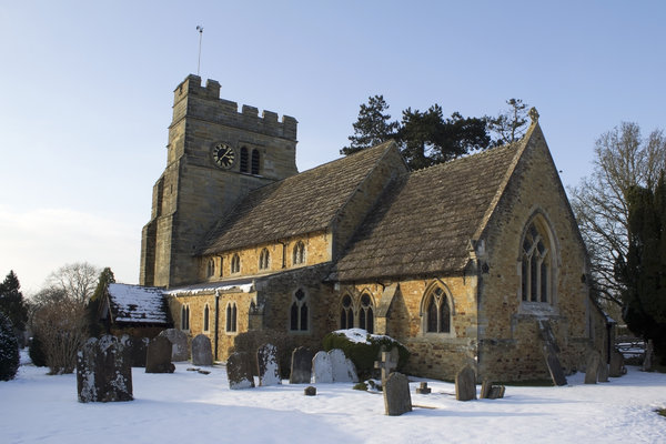 Church in the snow: A church in West Sussex, England, after a snowfall in February.