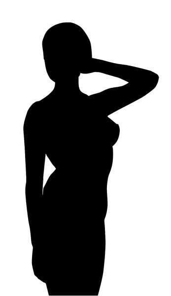 Girl: A silhouette.
