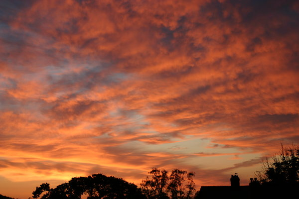 Sky on fire: Beautiful red sunset in North Wales