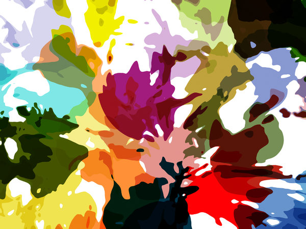 Bright Paint Splashes 2: Bright and colourful paint splashes. Suitable for a carnival atmosphere, or a party invitation. Fabulous background, texture or fill.