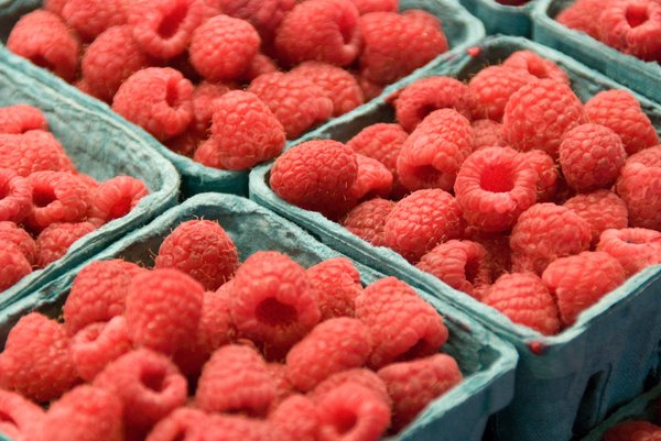 Berry Wares: Raspberries at the Pike Place Market, Seattle, WA, USA.