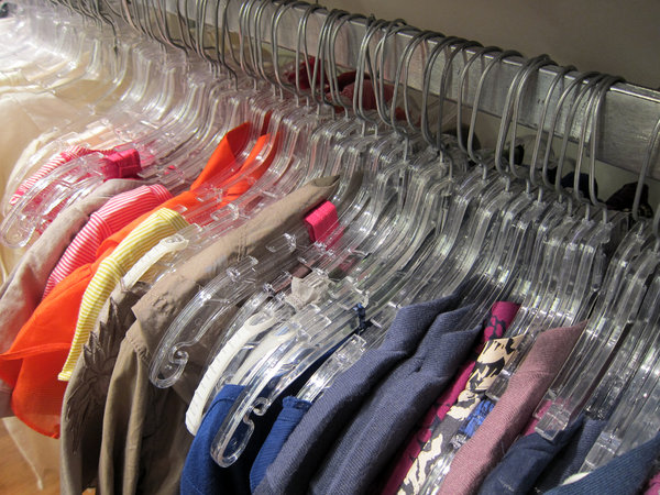 Clothing: Clothing in a shop.