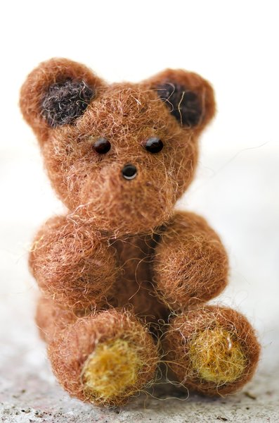 Wool felted teddy bear: Yup, made it myself ;-S
