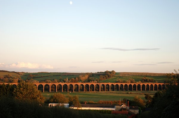 Victorian Viaduct: A viaduct spanning the Welland Valley in Rutland. Trains still run across this record-breaking bridge...