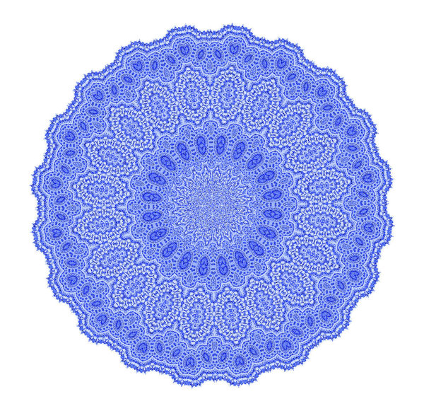 blue lace doily2: imitation intricate fine lace-work doily