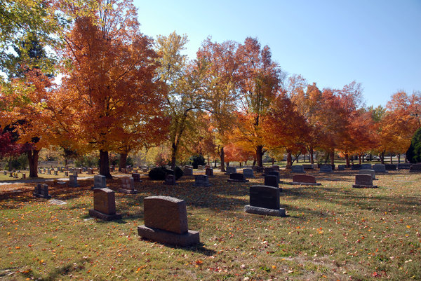 Cemetery: A cemetery in Autumn.
