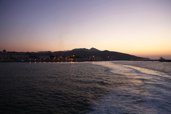 Ceuta at dusk: no description