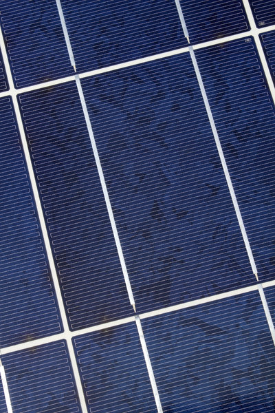 Solar power 2: Close-up of solar power array in use for domestic premises in Cyprus.