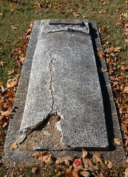 Grave: Grave in a cemetery.