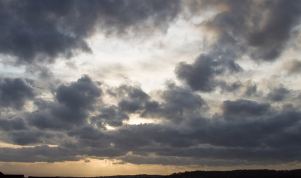 Evening Skies: Autumn evening sky over South Wales, GB