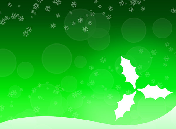 Christmas leafs 2 - Green: Christmas leafs background. Can be used for a christmas card, background, blog, etc.
