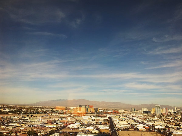 Good morning vegas: south of vegas skyline, taken from my Samsung Galaxy mobile phone