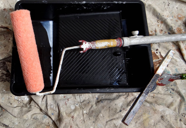 painter at work: painting tradesman tools
