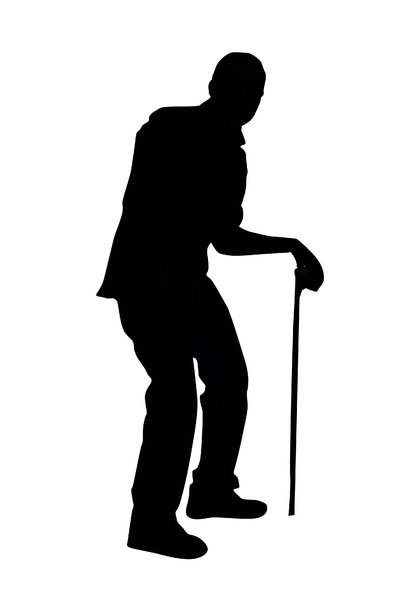 Old man: An old man with walking cane