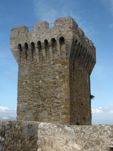 medieval tower: Medieval tower near the ancient necropolis of Populonia.