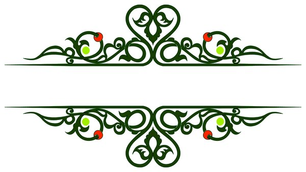 Banner1: Banner with ornaments
