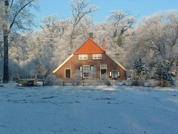 Boerderij Twickel: Farm house in winter landscape.