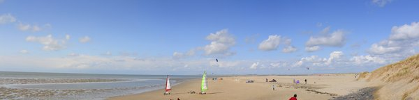 Dutch beach: Dutch beach panorama