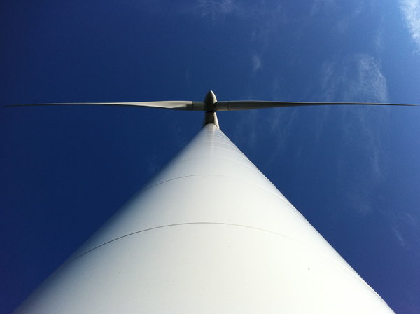 Wind Turbine: Wind turbine in zenith perspective