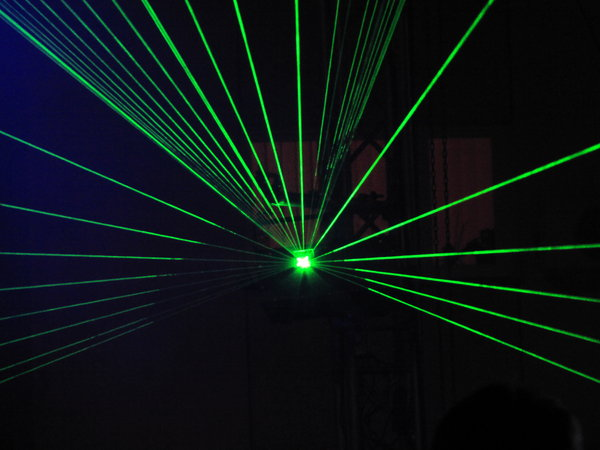 green light: light laser show