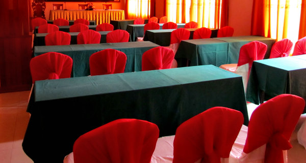 decorated conference room: conference room set up and decorated in readiness