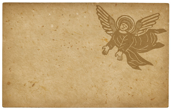 Angel Card: A vintage card with an angel.