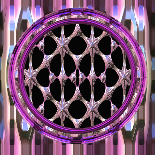 Gothic Window Round 2 A Fantasy In Pinks And Multi Colours