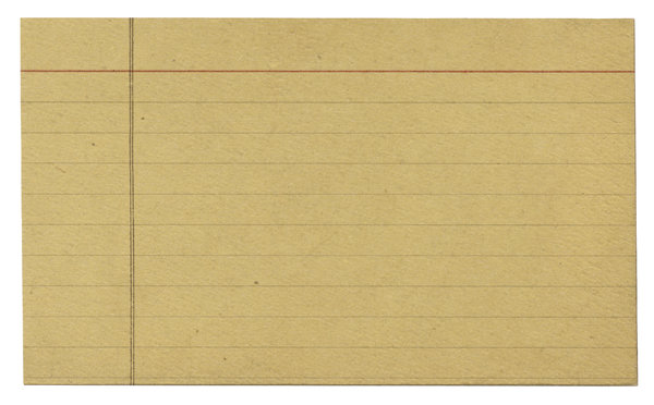 Index Card 3: Variations on a vintage index card.