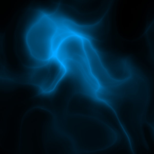 Ghostly Light 2: Ghostly blue smoky light against a black background.