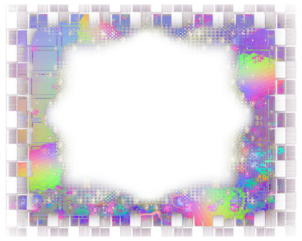 Fantasy Border or Frame 3: A fabulous layered border in a riot of colours. Suitable for a flyer, frame, border, greeting, paper, and much more. A great background texture.