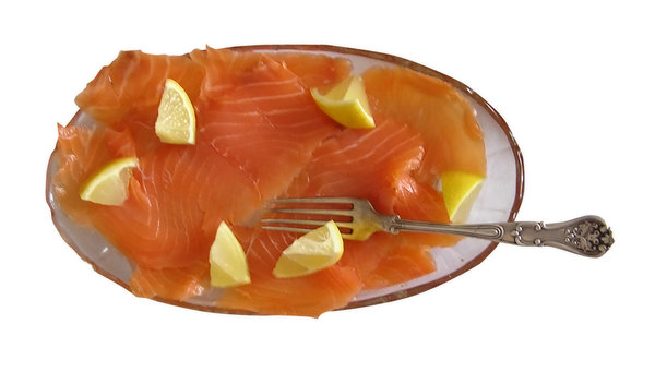 Salmon: Salmon with some lemon