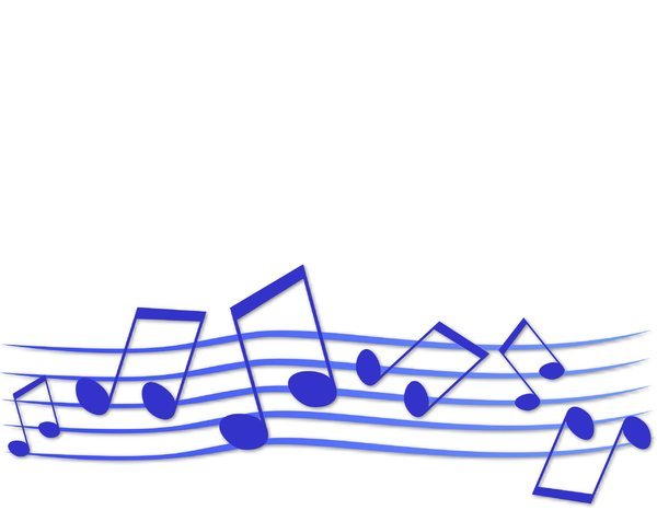 Musical Frame or Border 1: A fun musical frame or border in blue. Suitable for a flyer, background, texture or element.