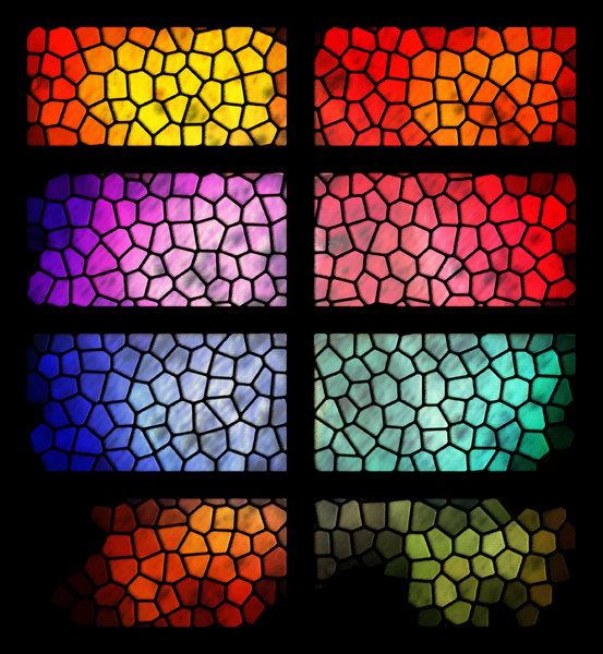 Stained Glass Window: A colorful graphic illustrationof a stained glass window.