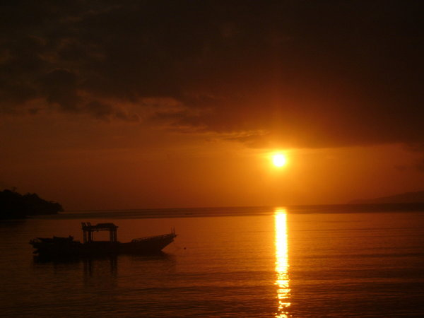 Sunset At The Beach: Sunset at Ambon Beach, Indonesia.