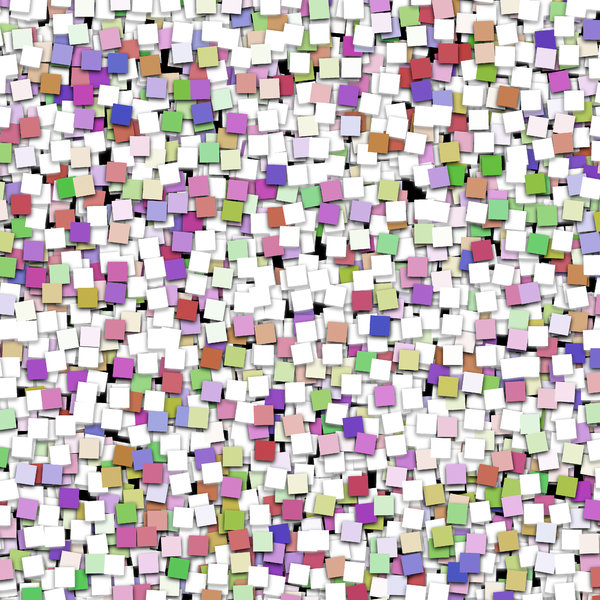 Paper Squares 2: A wall full of multi-coloured paper squares. Great background, texture or fill, or make your own collage.