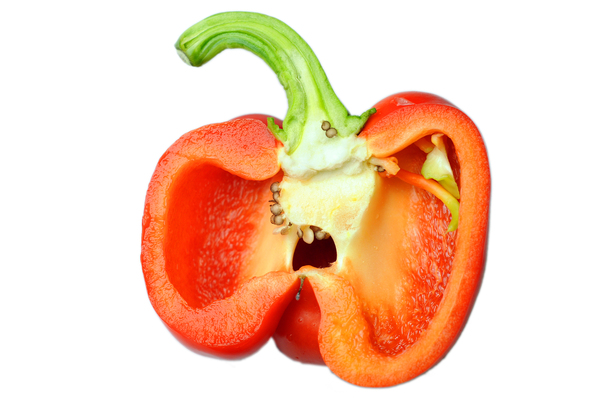 bell pepper: half red sweet pepper