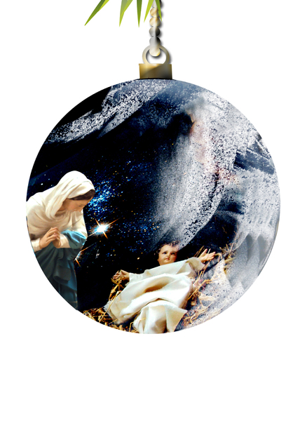 Christmas bauble: Christmas crib decoration
