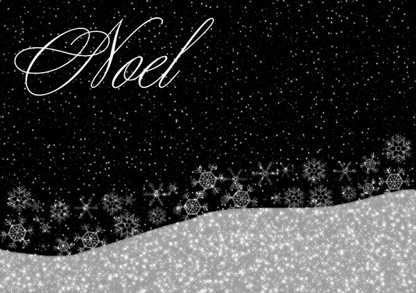 Christmas Greetings 3: A starry, shiny Christmas greeting, background, cover, card or illustration in black and white with the word