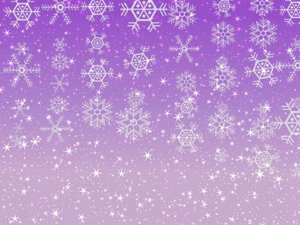 Stars Snowflakes Background 6: Sparkly stars and snowflakes on a coloured background. Great Christmas atmosphere.