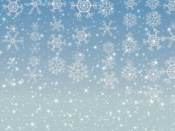 Stars Snowflakes Background 4: Sparkly stars and snowflakes on a coloured background. Great Christmas atmosphere.