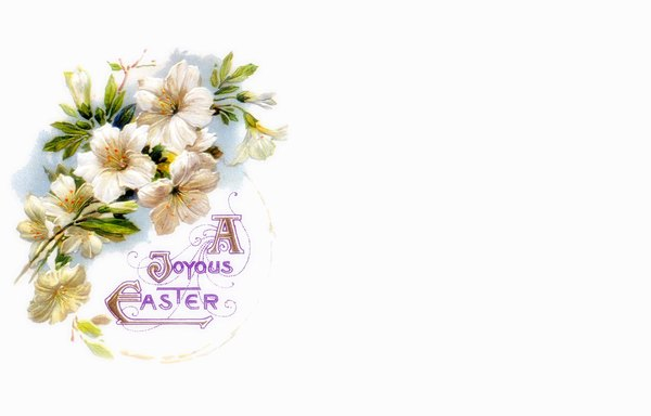 Easter Card 1: A victorian Easter wish, made from a public domain image. Pretty and old fashioned, it makes a nice Easter card or greeting.