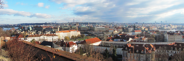 Prague panorama: panoramic view of prague, czech republic