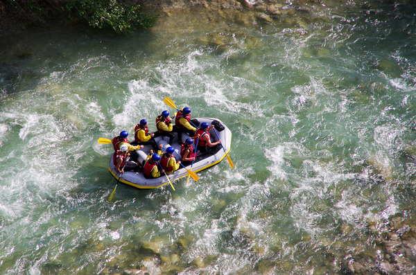 Rafting: Rafting in Gorges du Verdon, Alpes-de-haute-Provance, France